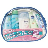 9-Piece Women's Travel Kit with Zippered Bag