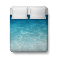 Blue Ombre Waters - Duvet Cover
