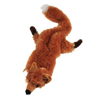 As Seen On TV Crazy Critters Stuffing-Free Fox Squeaker Dog Toy