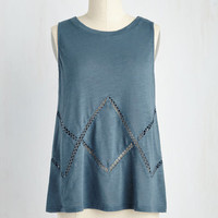 Mid-length Sleeveless A-line Saltwater Symphony Top