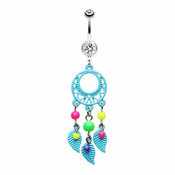 Enchanted Loop Dream Catcher Belly Button Ring