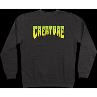 Creature Logo Crew/swt Small Charcoal Heather