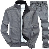 Men Sets Fashion Autumn Spring Sporting Suit Sweatshirt +Sweatpants Mens Clothing 2 Pieces Sets Slim Tracksuit Hoodies