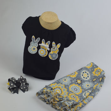 Bunny's Outfit by Mandy Lou {Black/Yellow/White/Grey}