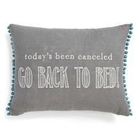 Levtex 'Go Back To Bed' Accent Pillow - Grey