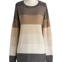 Jack by BB Dakota On the Horizon Line Sweater in Taupe | Mod Retro Vintage Sweaters | ModCloth.com