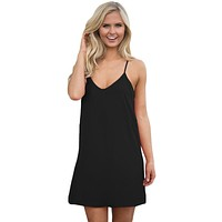 Women's Black Summer Short Dress