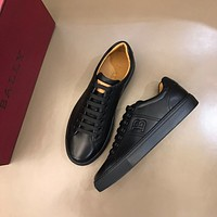 BALLY  Men Fashion Boots fashionable Casual leather Breathable Sneakers Running Shoes