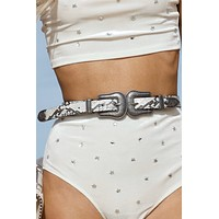Moonlight Trails Snakeskin Belt