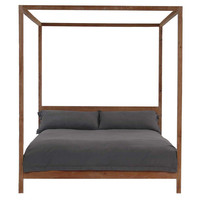 Strugess Canopy Bed, Natural, Canopy Beds