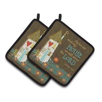 As For Me And My House Pair of Pot Holders VHA3005PTHD