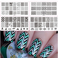 HOT SALE Nail Art Metal Plate Image Stamping Plates DIY Manicure Printing Template Plate Tool 20 Styles For Choice