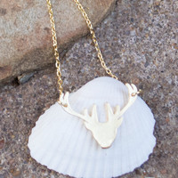 Dainty Deer Necklace- GOLD