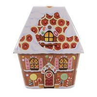 Tins HOLIDAY VILLAGE Metal Silver Crane Tins Christmas 4029948 GINGERBREAD