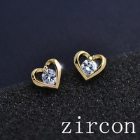18K Gold/Silver Plated Stud Valentine's Day Gift For Women