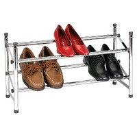 Household Essentials Expandable/Stackable Shoe Rack - Chrome