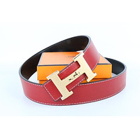 Hermes belt men's and women's casual casual style H letter fashion belt398