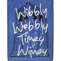 Doctor Who Wibbly Wobbly Comfy Throw