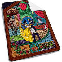 Disney Beauty and the Beast Stained glass Blanket