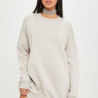 Missguided - Carli Bybel x Missguided Nude Oversized Sweat Dress