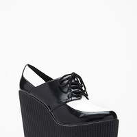 Faux Leather Platform Creepers