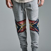 On The Byas The Chill Fit Ethnic Fleece Jogger Pants - Mens Pants - Gray