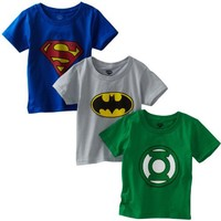 Fruit of the Loom Boys 2-7 3-Pack Funpals Justice League Crew Shirt, Assorted, 4