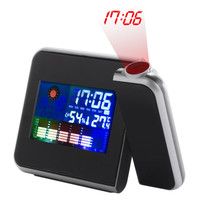 1Pc 2017 Home Use Digital LCD Screen Weather Station Forecast Calendar Projector Alarm Clock Free Shipping