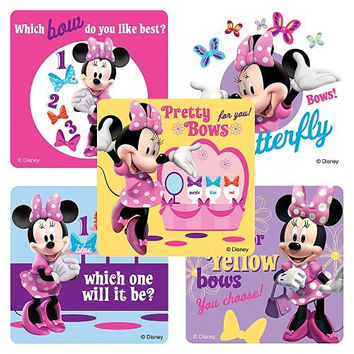 Disney Minnie Mouse Bow-Tique Stickers - Party Favors - 75 per Pack