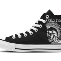 The Exploited Hi-Top Unisex Trainers