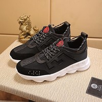 VERSACE Men 2019 Trending black Casual Sneakers Sport Running Shoes Best Quality