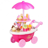 Baby Kids Playing House Learning Toys Cake Ice Cream Food Truck Music Light Carts