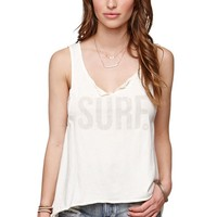 Roxy Surf Muscle Tank - Womens Tee - White -