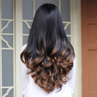 Synthetic Half Wig Curly Hair Long Wavy Ombre Half Wigs for Women Female Curly Fake Hair Wig Cheap Realistic Ladies Drag Queen