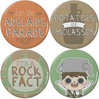"""Over the Garden Wall Greg 2.25"""" Pinback Buttons or Magnets (4 Pack)"""