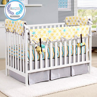 Eco-Teether™ Crib Rail Covers - Yellow Diamonds