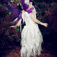 Shorter Fairy Fantasy Wedding Dress with Flowers Your Color and Size