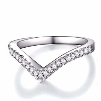 Encore 1CTW Curved Companion Band Ring