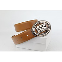 New Versace Belt Medusa Buckle Leather Men's Belt543
