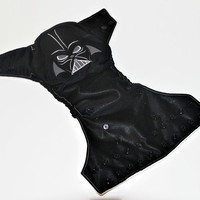 The Dark One Embroidered One Size Pocket Cloth Diaper, Reusable Cloth Diaper, One Size Cloth Nappy, One Size Pocket Cloth Diaper
