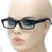 Mens Geeky Nerd Thick Plastic Frame Rectangular Horn Rim Fashion Eye Glasses New