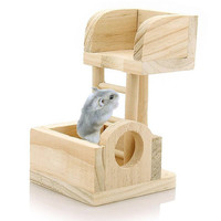 New Pet Rat Toy Climbing Ladder Mouse Wooden Hamster Funny Exercise Lookout Tower Swing Molar Colorful Natural,Hamster Toys