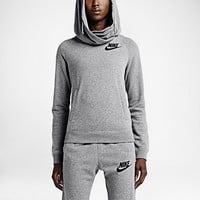 The Nike Rally Funnel Neck Pullover Women's Hoodie.