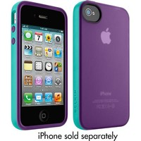 Belkin - Grip Candy Case for Apple® iPhone® 4 and iPhone 4S - Dark Teal/Green
