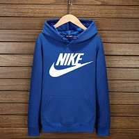 "N  ""NIKE"" Hooded Top Sweater Pullover Sweatshirt Hoodie Blue I-YSSA-Z"