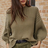 UO Lou Mock-Neck Pullover Sweater | Urban Outfitters