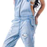 Evil Twin Simple Life Boyfriend Overalls Vintage Blue