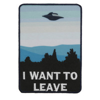I Want To Leave UFO Iron-On Patch