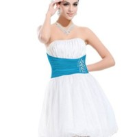 HE03215BL16, White&Blue, 14US, Ever Pretty Sequin Dress For Girls 03215