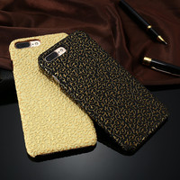 Mobile Phone Case For iPhone 7 7 Plus For iPhone 6 6s Plus/ 5 5S SE Luxury 3D Flower Pattern Slim Hard Leather Cover Accessories